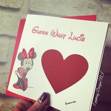 Personalised Going To Disney Card, Scratch To Reveal, Disneyland (any Character)