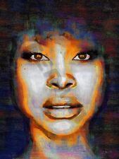 Erykah Badu Soul Funk R&b cartel de impresión de arte pintura al óleo llff 0043