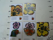 STICKER,DECALS SET CELTONA INSECTS LOT OF 5