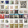 Cotton Linen Square Home Decorative Throw Pillow Case Waist  Sofa Cushion Cover
