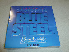 NEW SEALED ELECTRIC CRYOGENIC ACTIVATED BLUE STEEL DEAN MARKLEY STRING REG 10-46