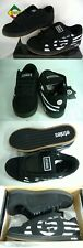 New Mens 9 ETNIES Capital Black Suede Leather Skate Shoes $70