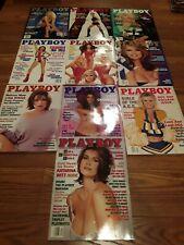 Set of 10 Playboy Magazines 1998.