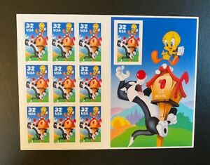 Sylvester and Tweety 32 Cent Stamps MNH Free USA Shipping 10 stamps full sheet