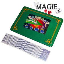 Tapis de magie VERT - 58 x 40 cm - Motif 4 As - Qualité VDF