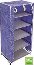 Scarpiera Scaffale Portascarpe 5 Ripiani Blu Porta Scarpe 44x30x89 Coveri