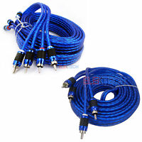 Stinger SI6217 & SI6417 RCA Interconnect Audio Cables for 6 Channel 17' Install