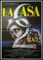 "THE EVIL DEAD 2 1987 Original Movie Poster 39x55"" 2Sh Italian SAM RAIMI HORROR"