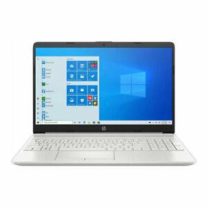 "HP 15-dw3033dx 15.6"" Intel i3-1115G4 256GB SSD 8GB RAM Laptop Natural Silver NEW"