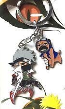 Naruto Shippuden Kakashi Pakkun Pug Anime Metal Charm Keychain Manga Figure Toy