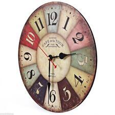 Vintage Home Antique Decor decor kitchen wall clocks decoration Wooden Wall Cloc