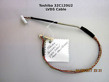 Toshiba 32C120U2 Main Board 431C4Q51L13 LVD Cable PN: 75023524 to T-Con Board