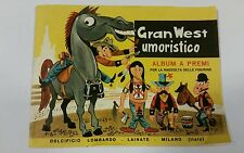 "ALBUM  "" GRAN WEST UMORISTICO ""  -  DOLCIFICIO LOMBARDO LAINATE  1961 Nuovo"