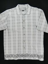 Prana Short Sleeve Button Down Shirt (Mens Large) Gray - Island