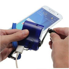 Cell Phone USB Charger Emergency Hand Cranking Dynamo Electric Generator Travel