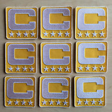 YELLOW GOLD Captain C Patch for Jersey Football Soccer Baseball Hockey Lacrosse