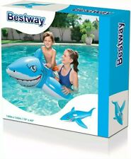 Bestway Inflatable Shark Ride on Lilo Lounger Pool Beach Holiday - BW41032