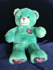 Build A Bear Best Friends Forever Teal Green Plush Stuffed Animal With Flower