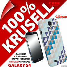 Krusell Blue Graphic PrintCover Hard Back Case Cover for Samsung i9500 Galaxy S4