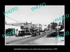 OLD LARGE HISTORIC PHOTO OF SPRINGHILL LOUISIANA, THE MAIN ST & STORES c1950 4