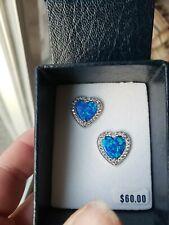 Montana silversmith jewelry earrings Halo Heart Opal