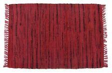 Sturbridge  Room Size Rag Rug in Red w/Black, Hand Woven, 100% Cotton, 6' x 9'
