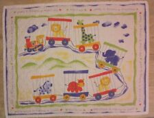 Vintage Baby Blanket Circus Is Coming To Town Crib Quilt Train Handmade?