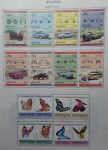 St. Lucia 1984-86 Mint Sets, Souvenir Sheets & Se Ttenet Pairs