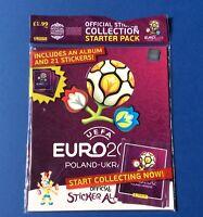 Panini EURO 2012 Poland Ukraine Starter Set (SEALED EMPTY ALBUM AND PACKETS)