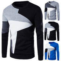 Fashion Mens Casual Long Sleeve Hoodies Warm Crew Neck Sweatshirts Pullover Tops