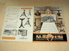 Prospectus Outil STOKVIS Garage Levator  auto catalogue Brochure car Tools