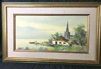 Vintage Landscape Painting Original Oil Painting Signed