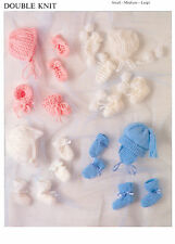 baby hats mitts and bootees dk knitting pattern 42