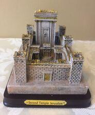 Judaica The Second Temple of Jerusalem Sculpture New Polyresin