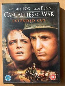 Casualties of War DVD 1989 Vietnam Movie Classic w/ Michael J. Fox Extended