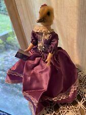 Taxidermy Duckling Head On Vintage Doll Purple Dress Rapunzel Oddities Macabre9�