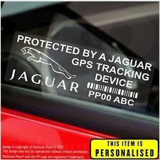 4 x Jaguar PERSONALISED GPS Tracking Device-Security Stickers-Alarm-Tracker