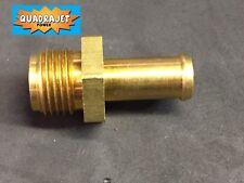 """Quadrajet Fuel hose inlet nipple for 3/8"""" hose.  NEW Quadrajet Power LLC"""