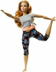 """Barbie Made to Move 11"""" Doll 22-Flexible Joints Dynamic Pose Floral Yoga Pants"""