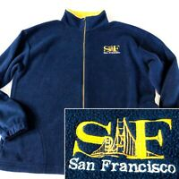 SAN FRANCISCO Mens XL Long Sleeve Full Zip Fleece Jacket Made in USA Golden Gate
