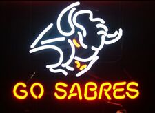 "Buffalo Sabres Go Sabres Neon Lamp Sign 20""x16"" Bar Light Beer Display Decor Pub"