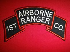 Korea War (1950-53) Us 1st Airborne Ranger Infantry Company Scroll Patch