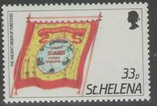 ST.HELENA SG476w 1986 33p FRIENDLY SOCIETY BANNERS WMK CROWN TO LEFT OF CA MNH