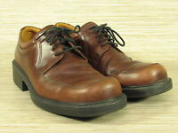 Classic ECCO City Oxfords Men's Size EUR 42 Brown Leather Lace Up Dress Shoes
