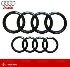 Audi Gloss Black Front Rear Grille Bonnet Badge Rings Q3 Q5 Q7 A6 A7 285mm 216mm