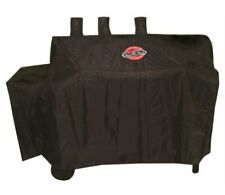 Dual Fuel Grill Cover Gas-And-Charcoal Grill Accessories With Side Burner Black