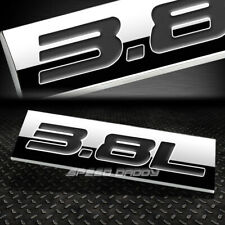 METAL EMBLEM CAR BUMPER TRUNK FENDER DECAL LOGO BADGE CHROME BLACK 3.8L 3.8 L