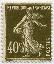 "FRANCE STAMP TIMBRE 193 "" SEMEUSE FOND PLEIN , 40 C BRUN OLIVE "" NEUF x TB"