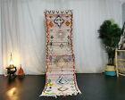 Moroccan Tribal Vintage Handmade Rug 2'4x8'3 Berber Abstract Colorful Wool Rug