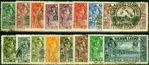 Sierra Leone 1938-44 Set of 16 SG188-200 Good Used